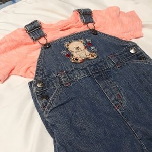 Jumping Bean NWT Shirt and Oshkosh Overalls 12m